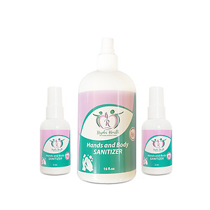 Hands and Body Sanitizer (1x16oz + 2x2oz)